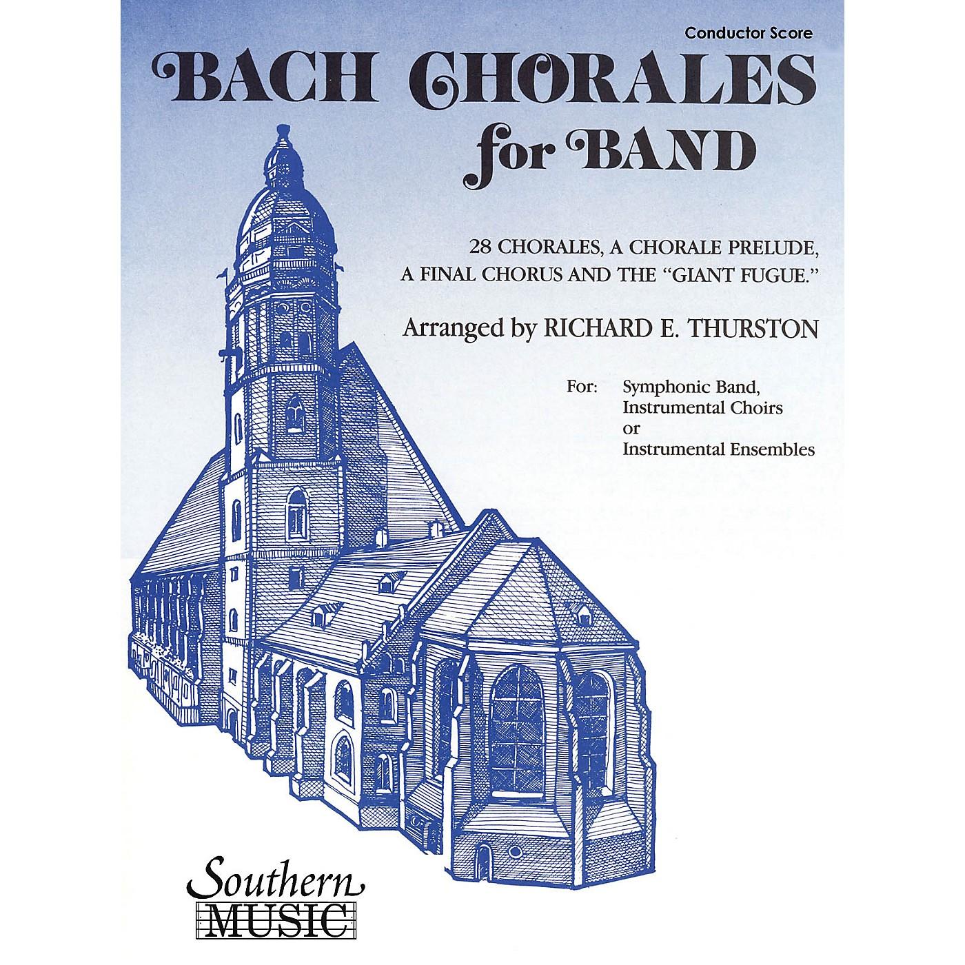 Southern Bach Chorales for Band (E-Flat Baritone Saxophone) Concert Band Level 3 Arranged by Richard E. Thurston thumbnail