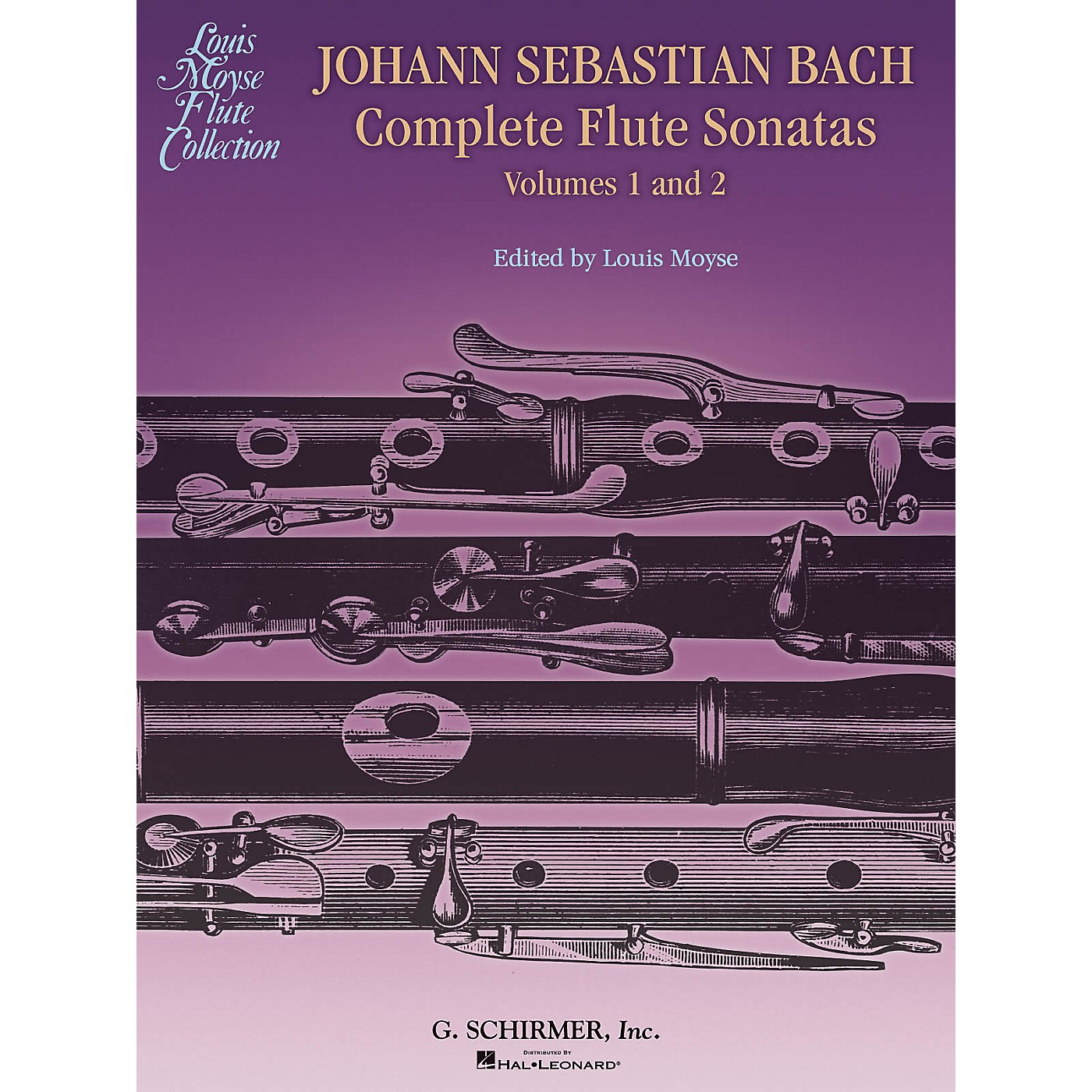 G. Schirmer Bach Complete Flute Sonatas - Volumes 1 and 2 Woodwind Solo Series Softcover thumbnail