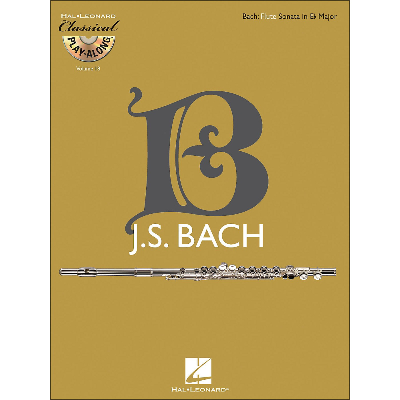Hal Leonard Bach: Flute Sonata In E-Flat Major, Bwv 1031 - Classical Play-Along (Book/CD) Vol. 18 thumbnail