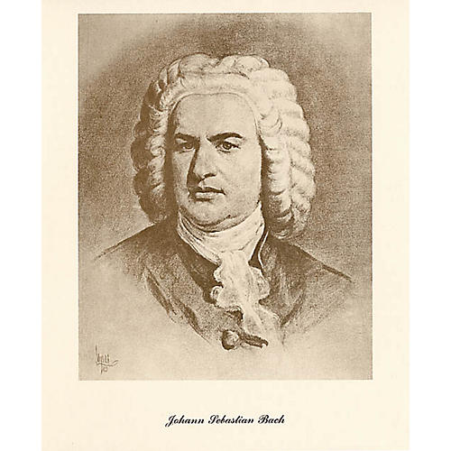 Music Sales Bach (Lupas Small Portrait Poster) Music Sales America Series thumbnail