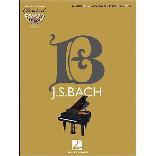 Hal Leonard Bach: Piano Concerto In F Minor, Bwv 1056 - Classical Play-Along Book/CD Vol 10 thumbnail