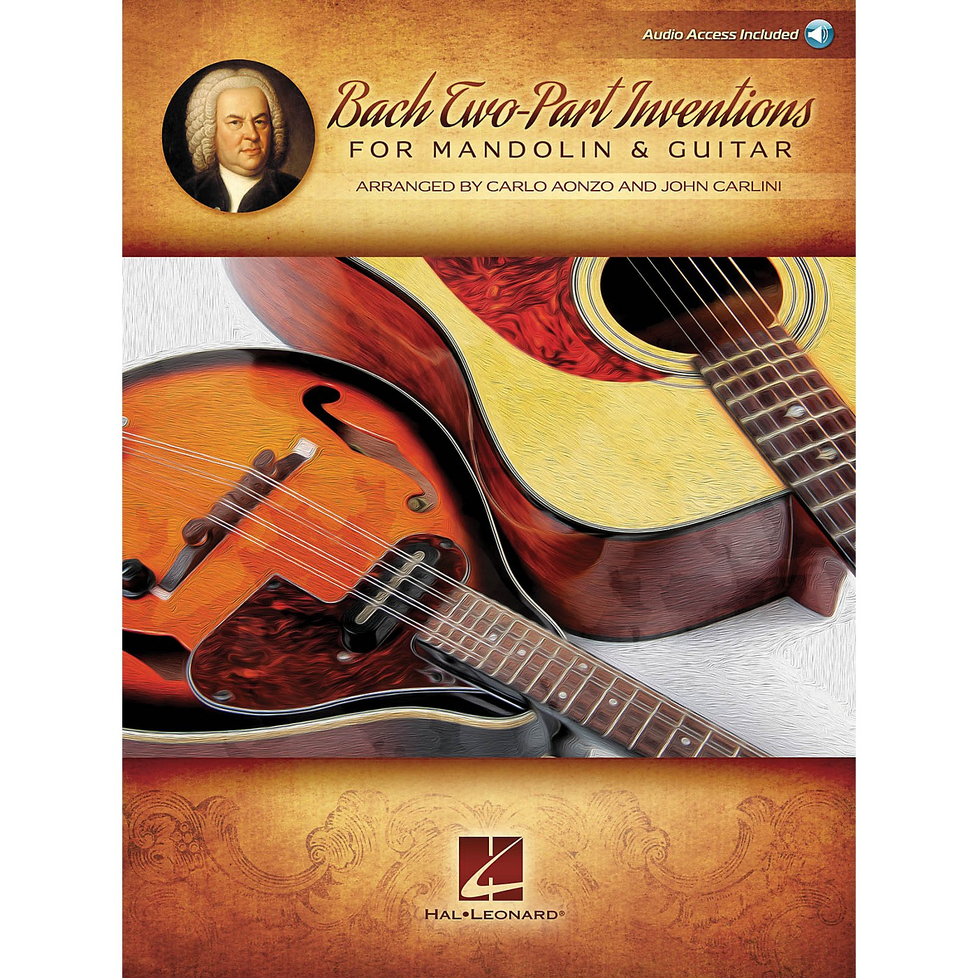 Hal Leonard Bach Two-Part Inventions for Mandolin & Guitar Fretted Series Softcover Audio Online thumbnail