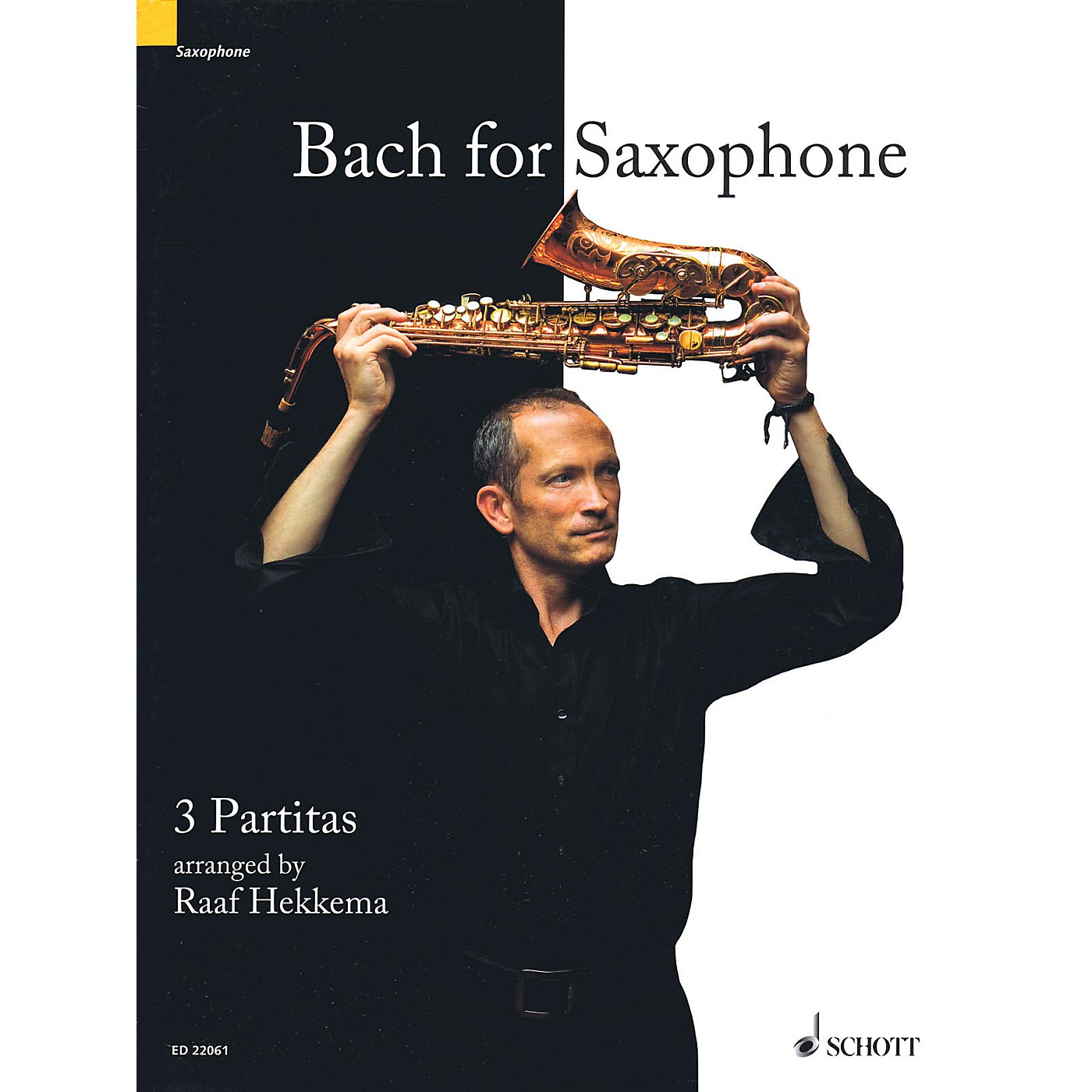 Schott Bach for Saxophone: 3 Partitas - BWV 1002, BWV 1004, BWV 1006 Woodwind Solo Series Book thumbnail
