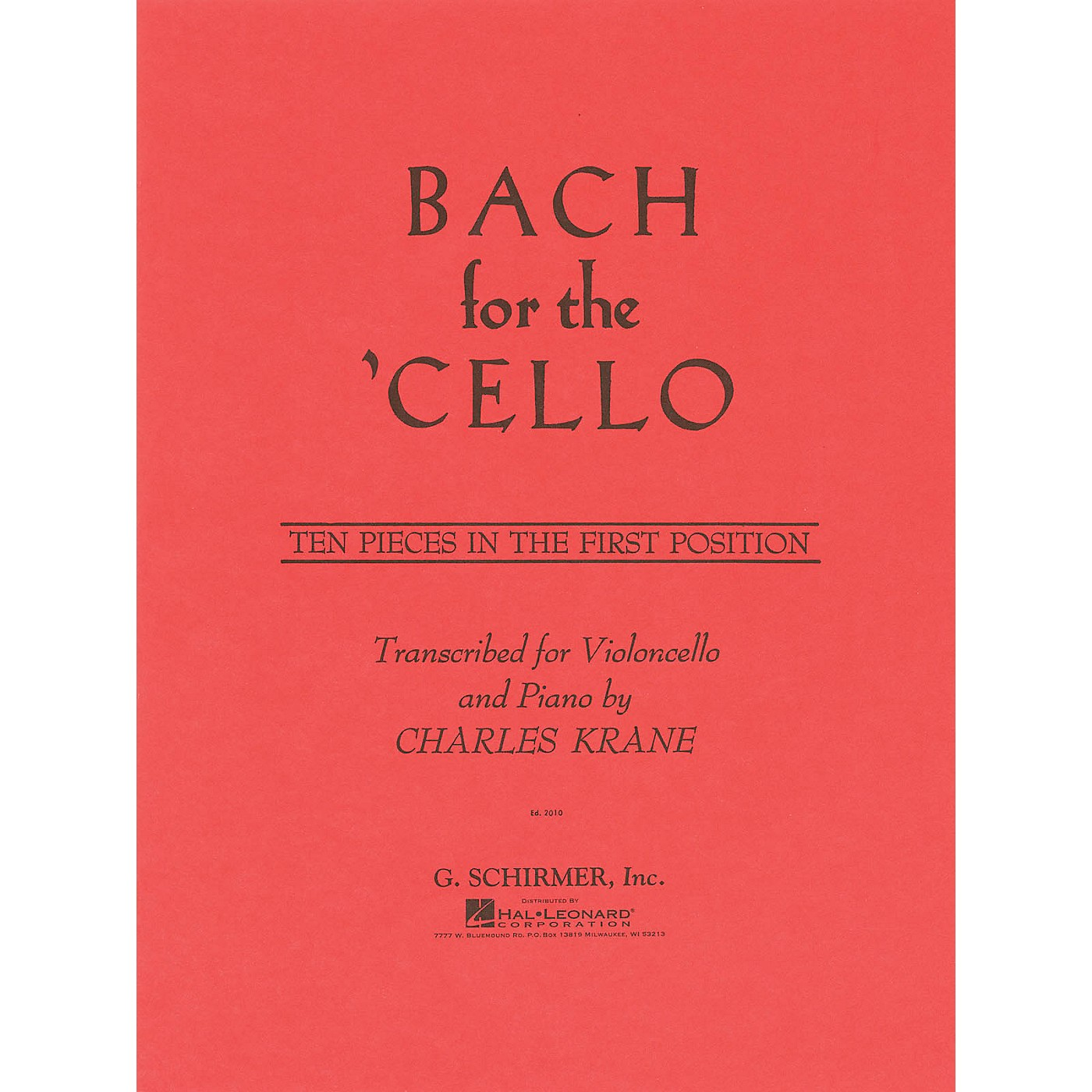 G. Schirmer Bach for the Cello String Method Series Softcover Composed by Johann Sebastian Bach Edited by C Krane thumbnail