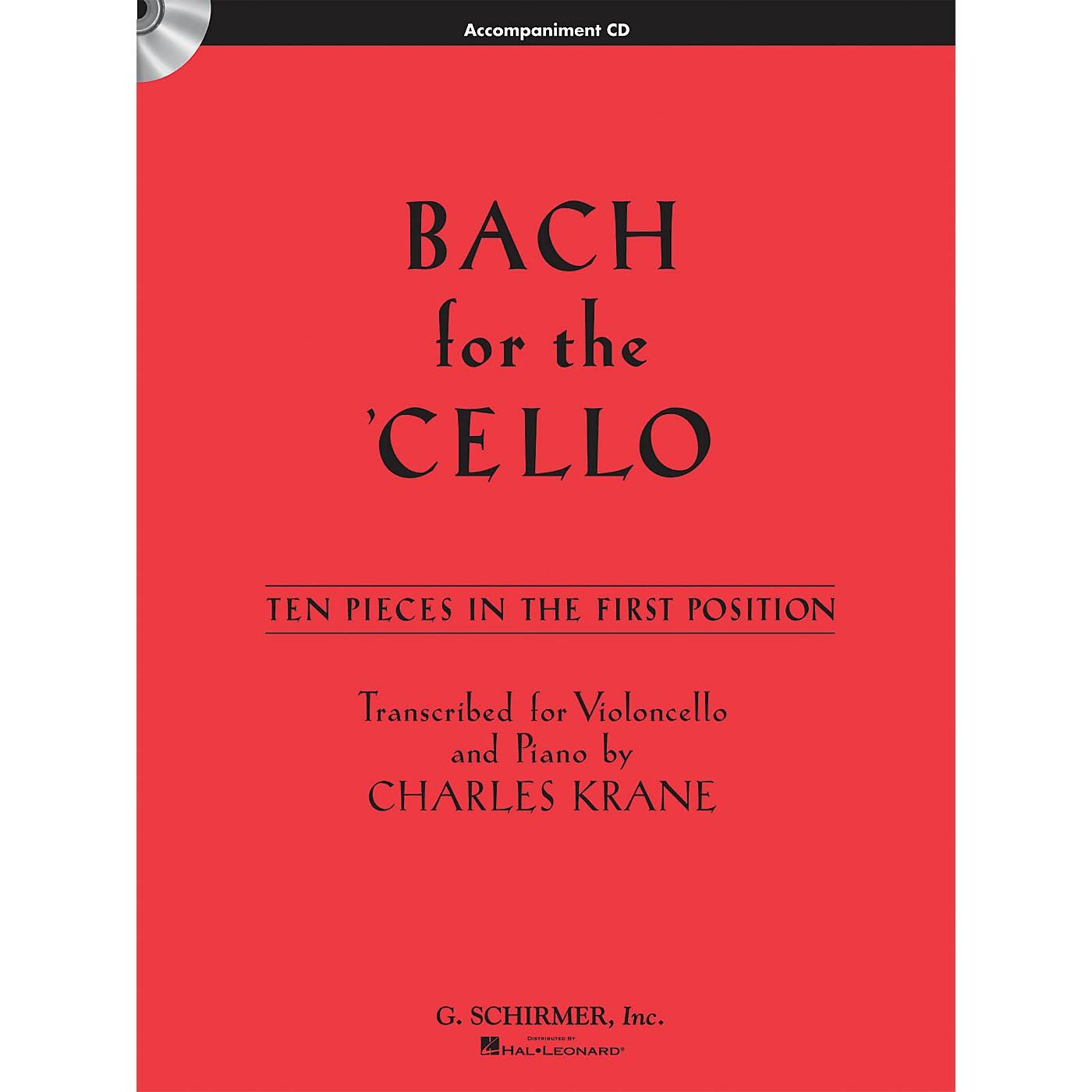 G. Schirmer Bach for the Cello String Solo Series CD Composed by Johann Sebastian Bach Edited by Charles Krane thumbnail