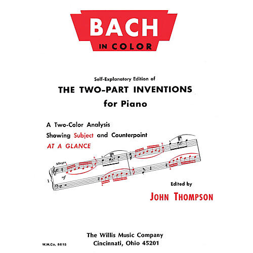 Willis Music Bach in Color Willis Series by Johann Sebastian Bach (Level Early Advanced) thumbnail