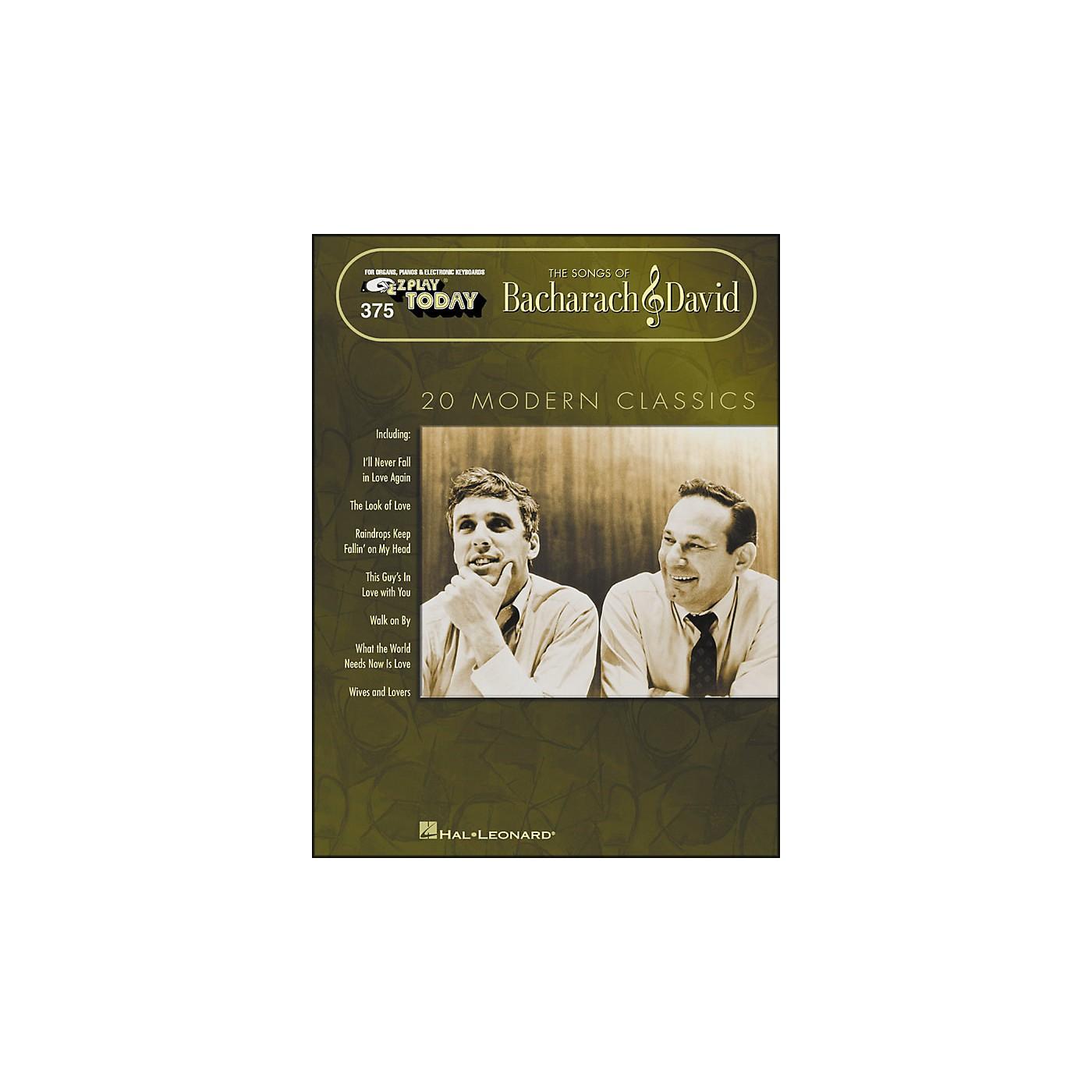Hal Leonard Bacharach & David - The Songs Of 20 Modern Classics E-Z Play 375 thumbnail