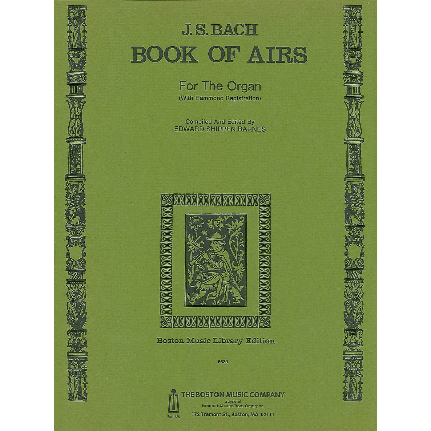 Music Sales Back Book Of Airs For Organ Music Sales America Series Softcover thumbnail