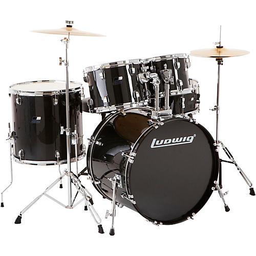 ludwig backbeat complete 5 piece drum set with hardware and cymbals woodwind brasswind. Black Bedroom Furniture Sets. Home Design Ideas