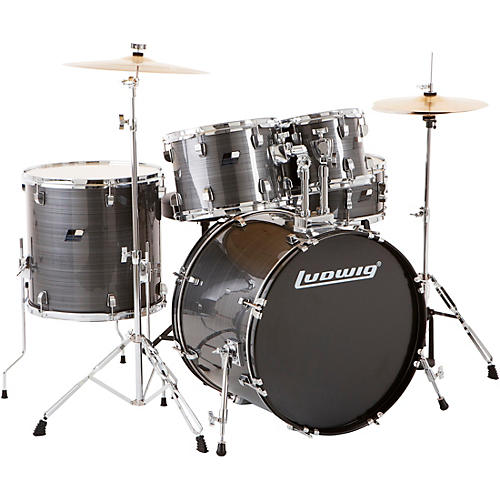 Ludwig Backbeat Complete 5-Piece Drum Set with Hardware and Cymbals thumbnail