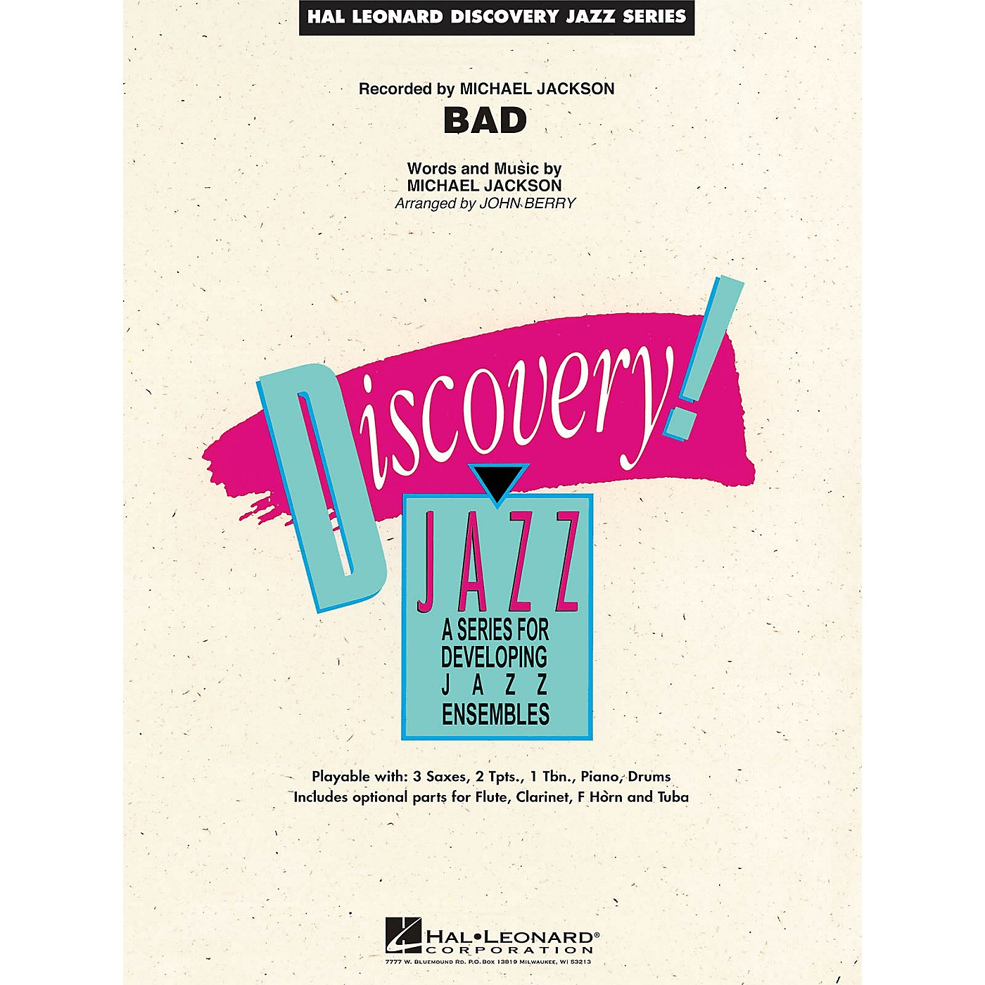 Hal Leonard Bad Jazz Band Level 1.5 by Michael Jackson Arranged by John Berry thumbnail