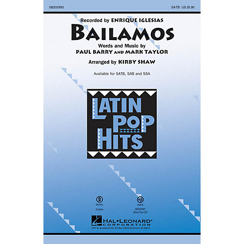 Hal Leonard Bailamos ShowTrax CD by Enrique Iglesias Arranged by Kirby Shaw thumbnail
