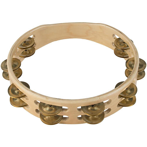 Sound Percussion Labs Baja Percussion Double Row Headless Tambourine with Brass Jingles thumbnail
