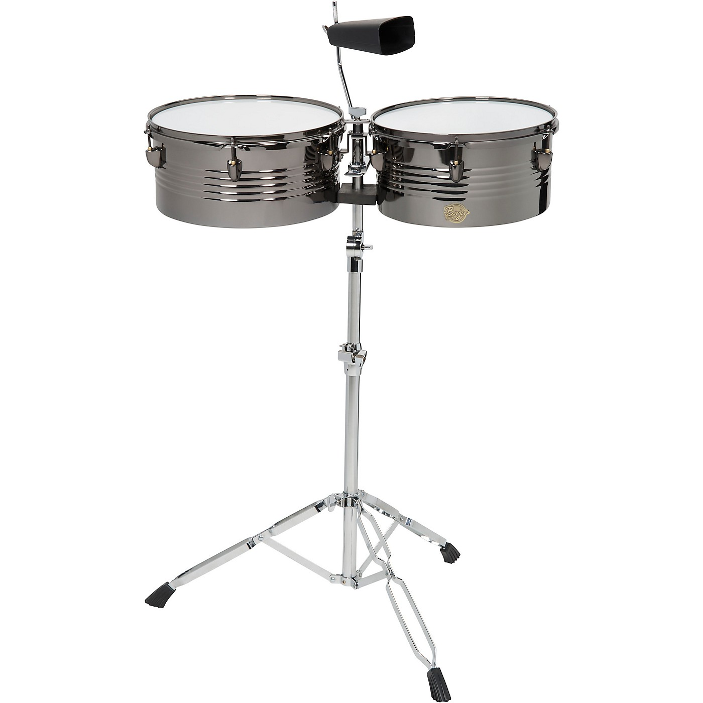 Sound Percussion Labs Baja Percussion Set of Timbales with Cowbell and Adjustable Stand thumbnail