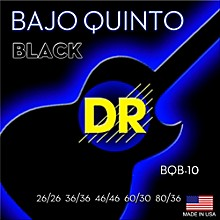 DR Strings Bajo Quinto Black Coated 10 String