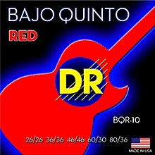 DR Strings Bajo Quinto Red Coated 10 String