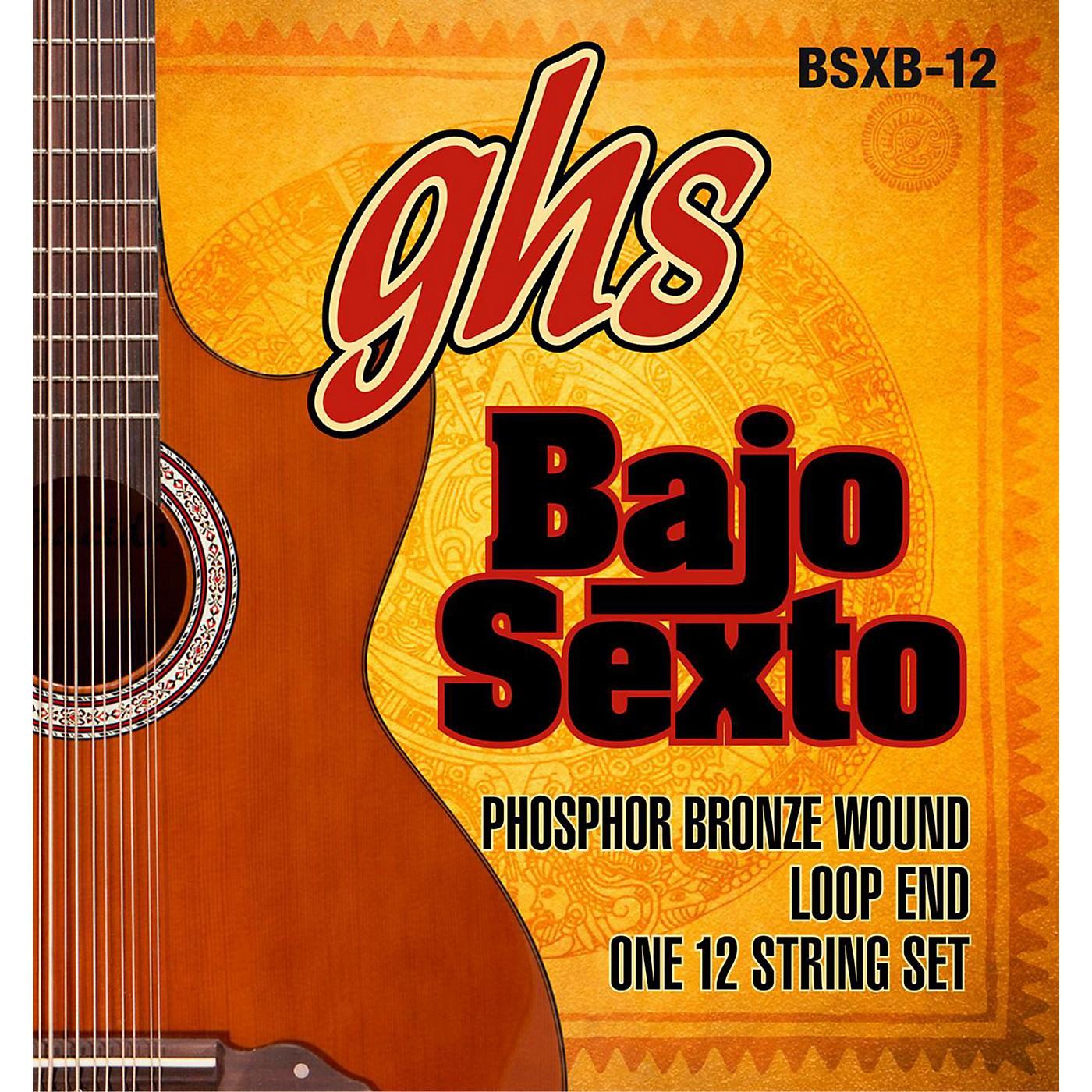 GHS Bajo Sexto 12-String Phosphor Bronze Acoustic Guitar Strings thumbnail