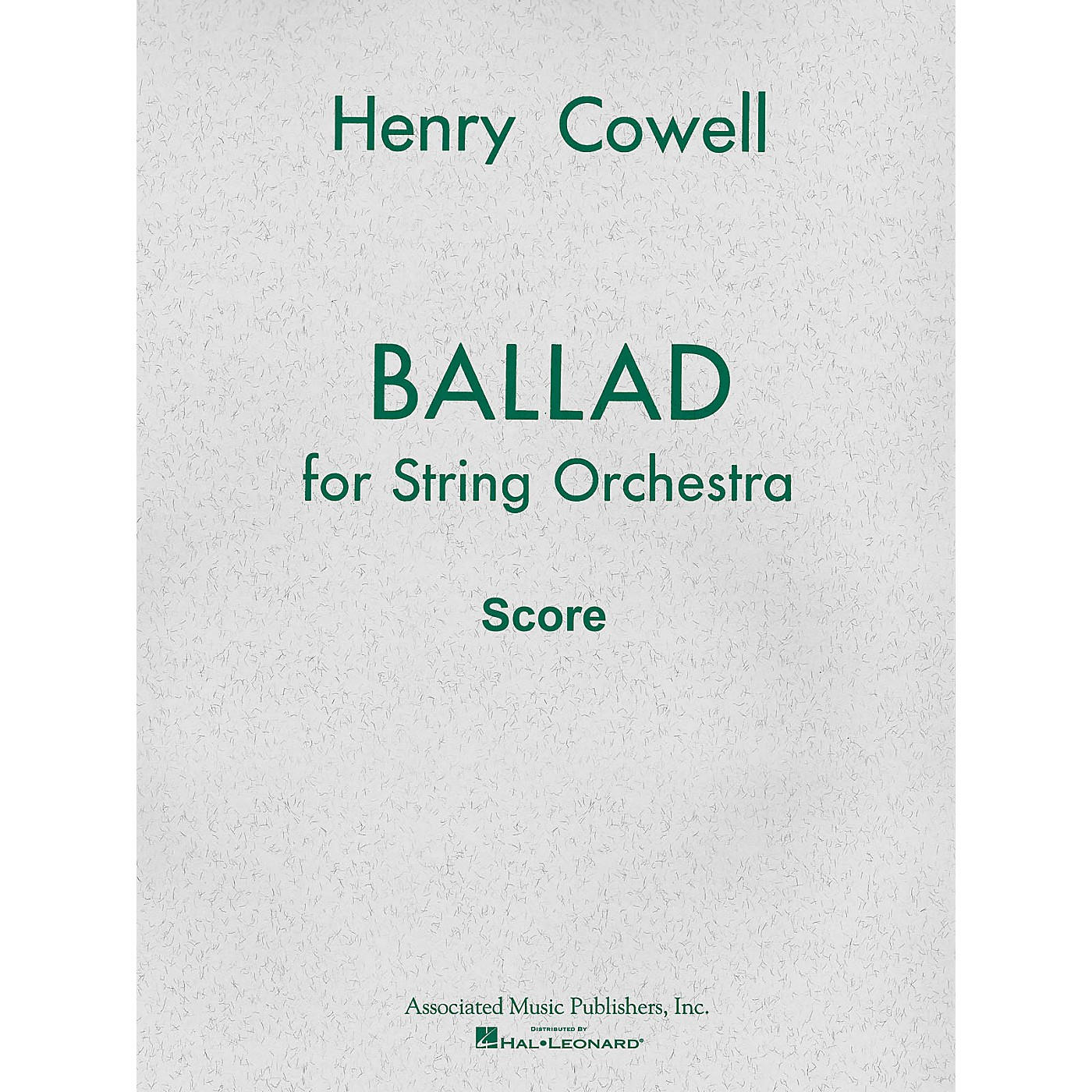 Associated Ballad (1954) for String Orchestra (Full Score) Study Score Series Composed by Henry Cowell thumbnail