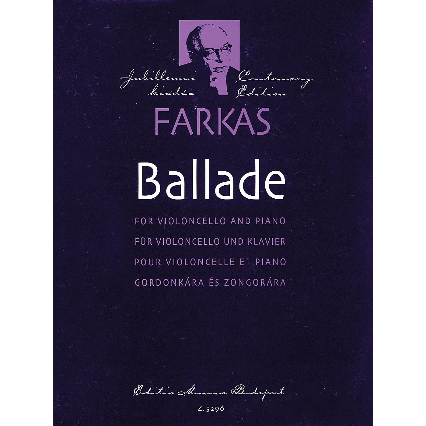 Editio Musica Budapest Ballade (Violoncello and Piano) EMB Series thumbnail