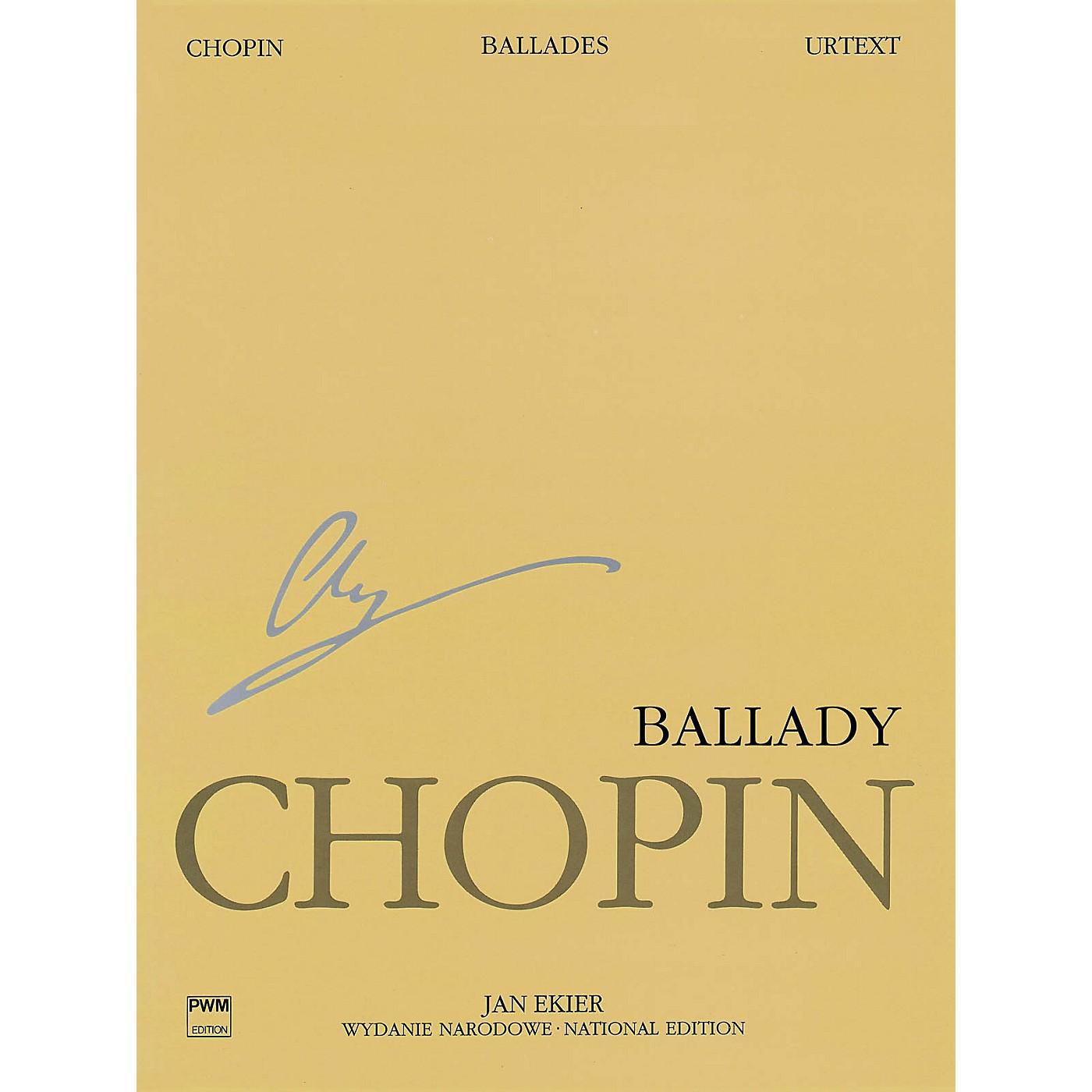PWM Ballades (Chopin National Edition Volume I) PWM Series Softcover thumbnail