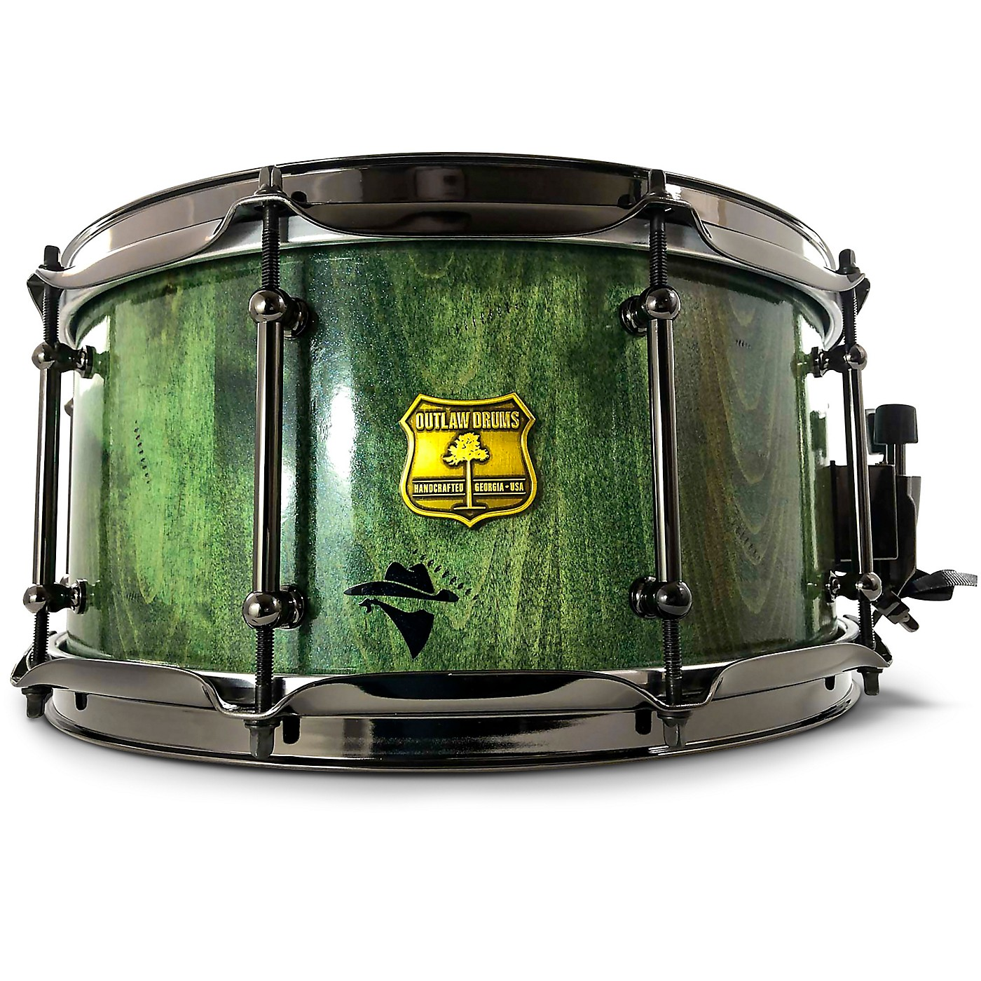 OUTLAW DRUMS Bandit Series Snare Drum with Black Hardware thumbnail