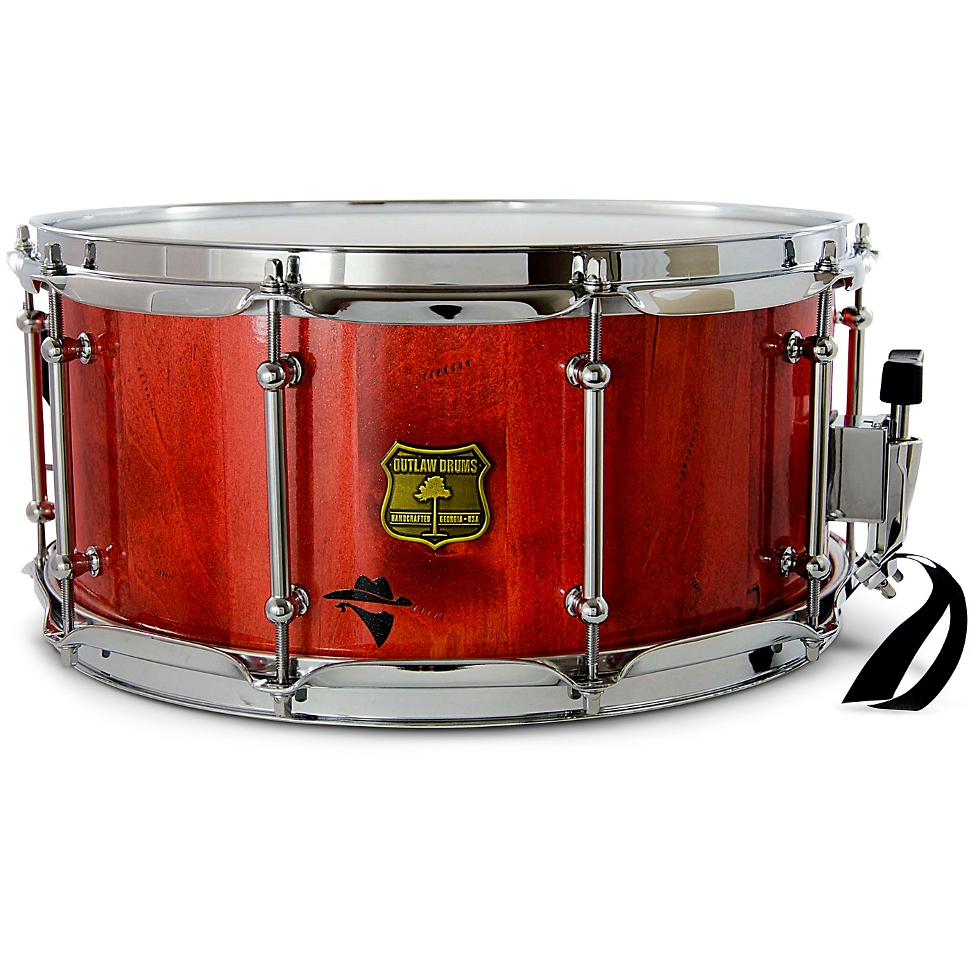 OUTLAW DRUMS Bandit Series Snare Drum with Chrome Hardware thumbnail