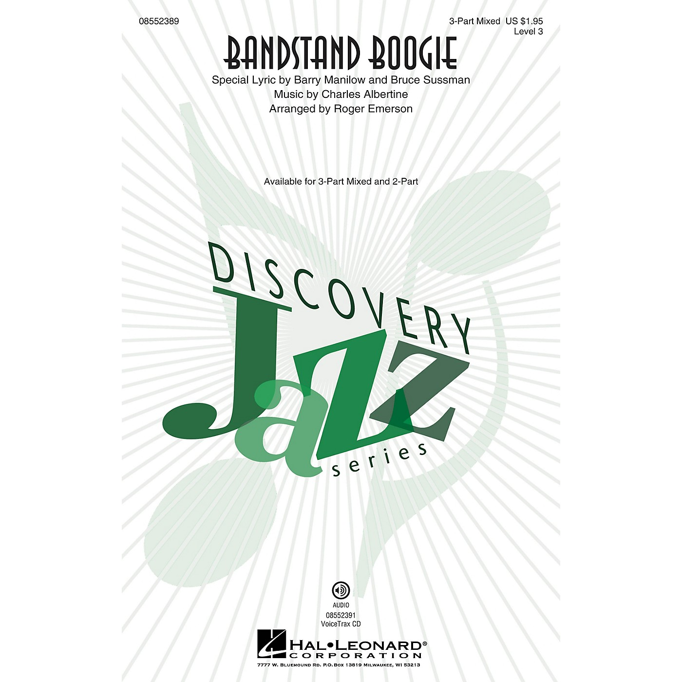 Hal Leonard Bandstand Boogie (Discovery Level 3) 3-Part Mixed arranged by Roger Emerson thumbnail