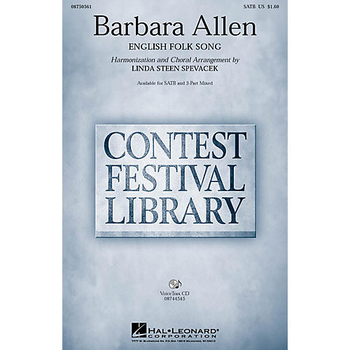 Hal Leonard Barbara Allen SATB arranged by Linda Spevacek thumbnail