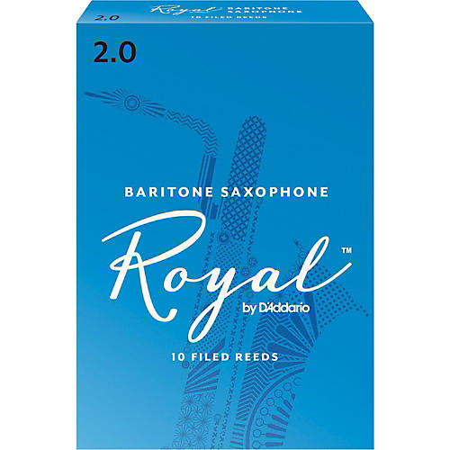 Rico Royal Baritone Saxophone Reeds, Box of 10 thumbnail