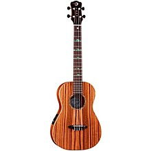 Luna Guitars Baritone Zebra Acoustic-Electric Ukulele