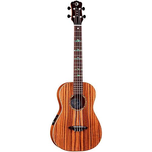 Luna Guitars Baritone Zebra Acoustic-Electric Ukulele thumbnail