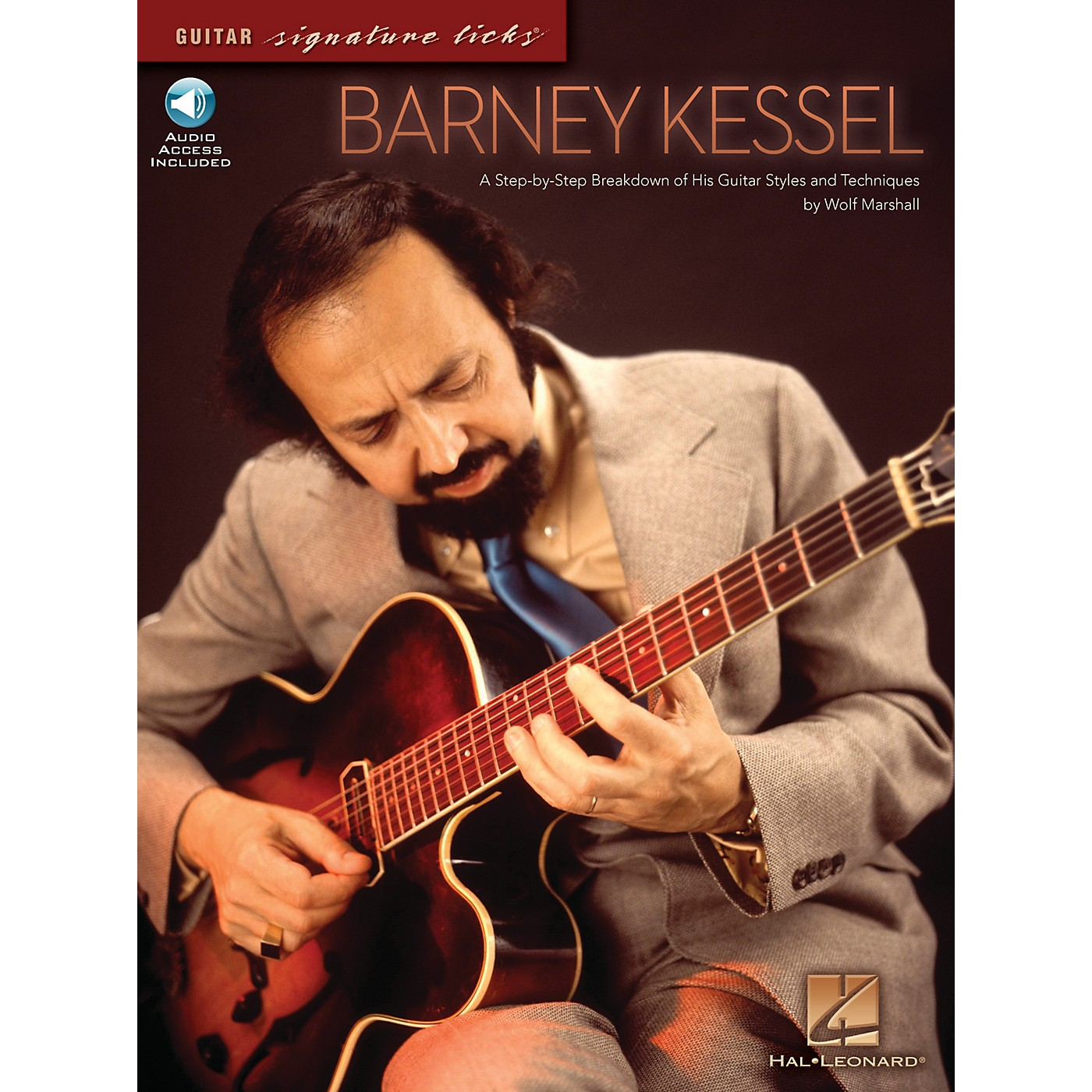 Hal Leonard Barney Kessel Signature Licks Guitar Series Softcover with CD Written by Wolf Marshall thumbnail