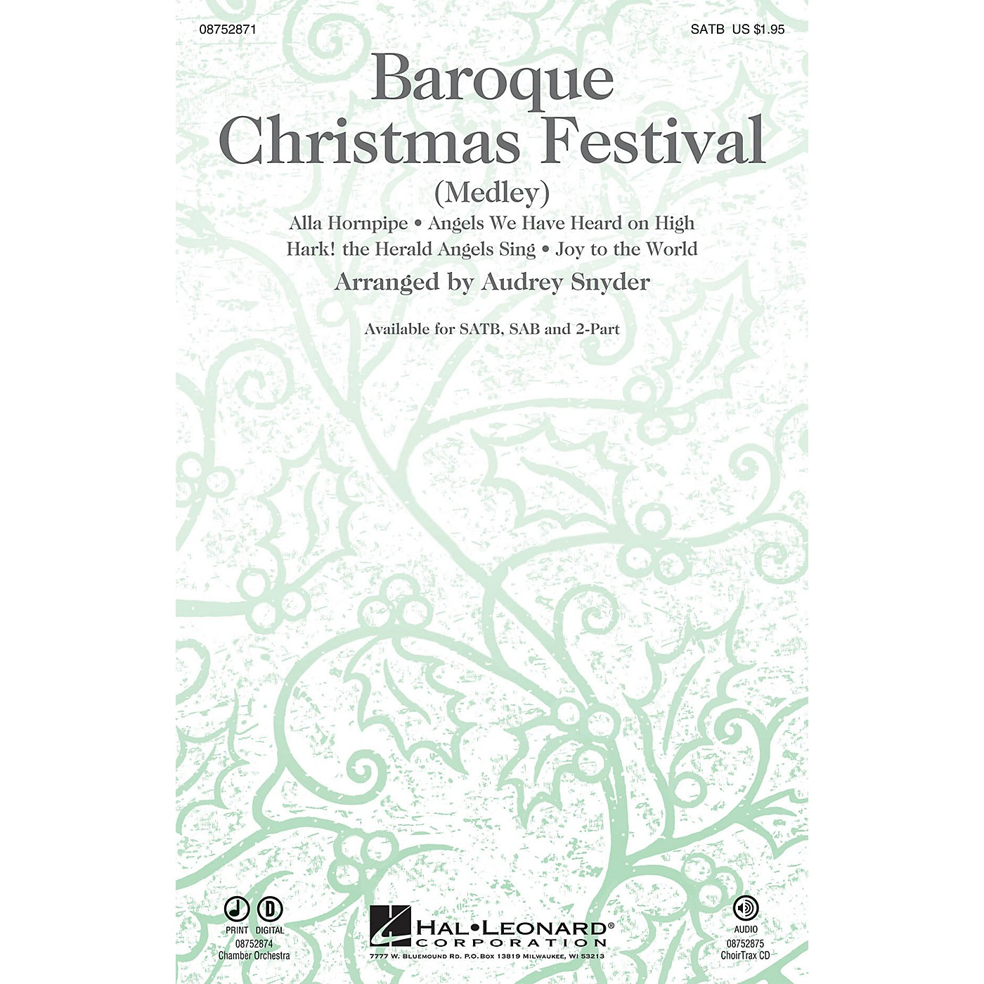 Hal Leonard Baroque Christmas Festival (Medley) CHOIRTRAX CD Arranged by Audrey Snyder thumbnail