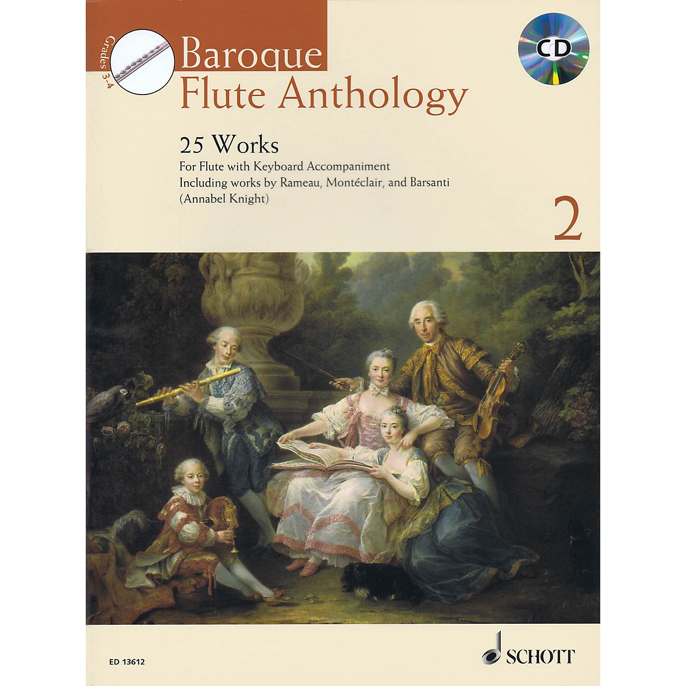Schott Baroque Flute Anthology - Volume 2 (25 Works for Flute and Piano) Woodwind Solo Series Softcover with CD thumbnail