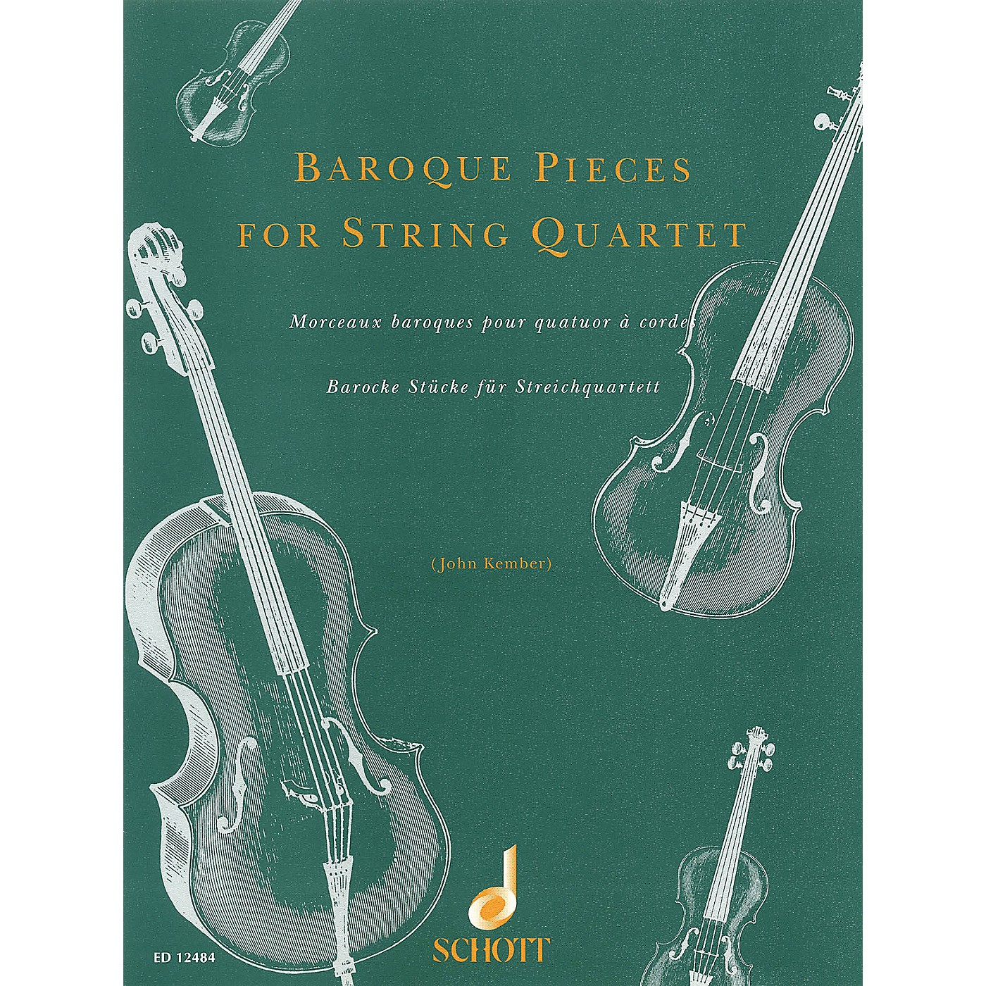 Schott Baroque Pieces for String Quartet Schott Series Softcover Composed by Various Arranged by John Kember thumbnail
