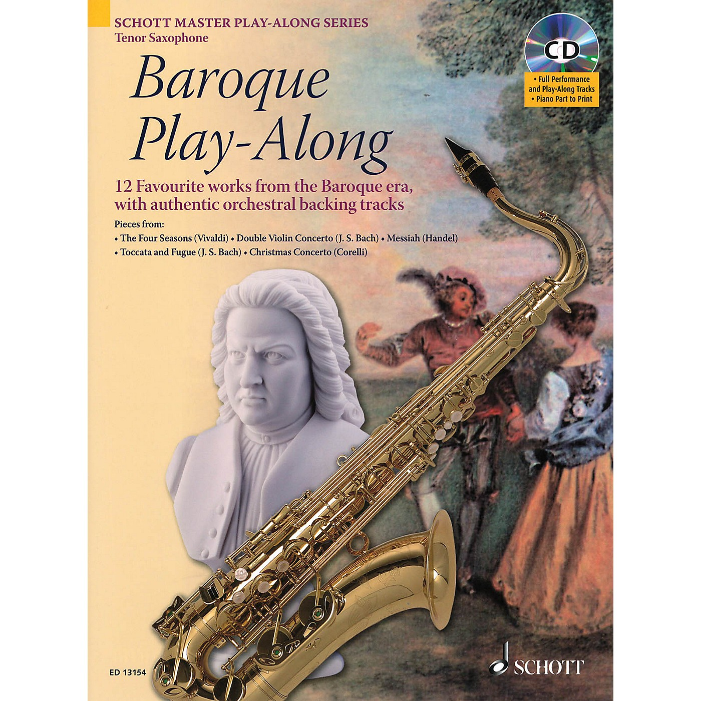 Schott Baroque Play-Along (12 Favorite Works from the Baroque Era) Instrumental Play-Along Series thumbnail