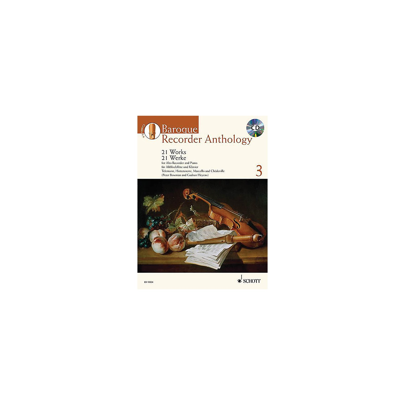 Schott Baroque Recorder Anthology - Volume 3 Schott Softcover with CD  by Various Edited by Gudrun Heyens thumbnail