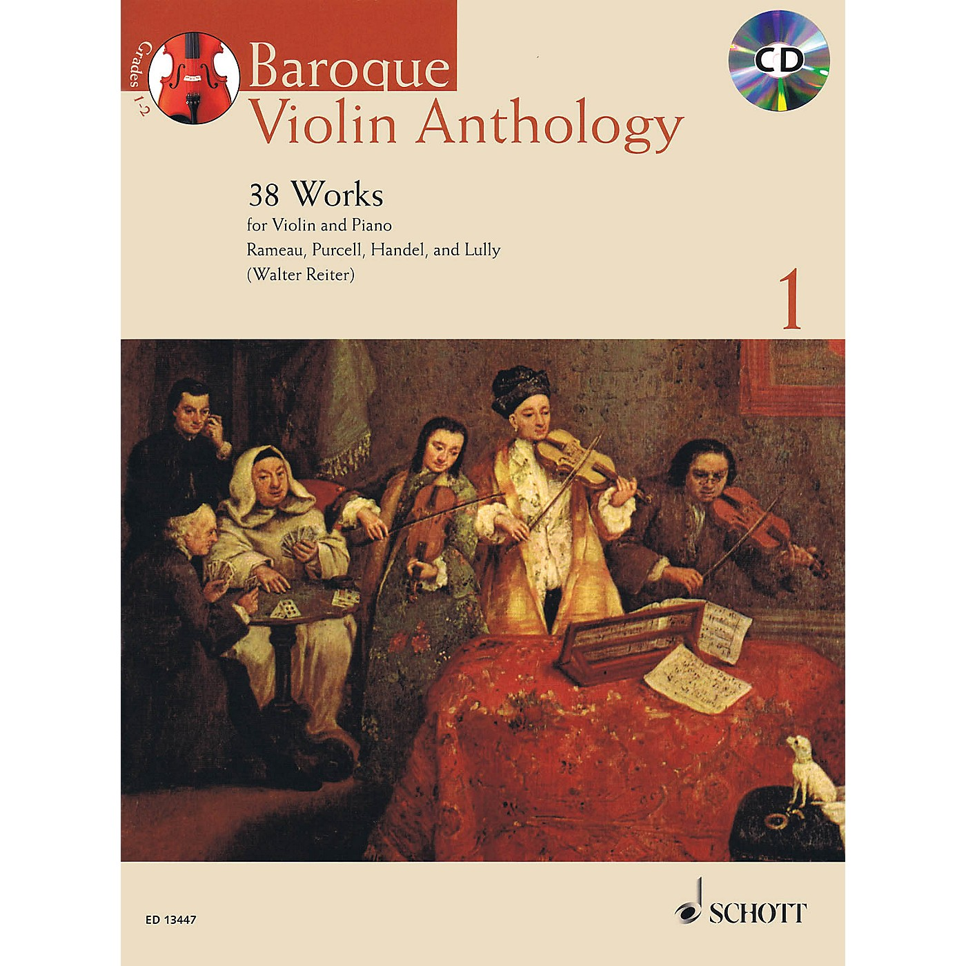 Schott Baroque Violin Anthology - Volume 1 String Series Softcover with CD thumbnail