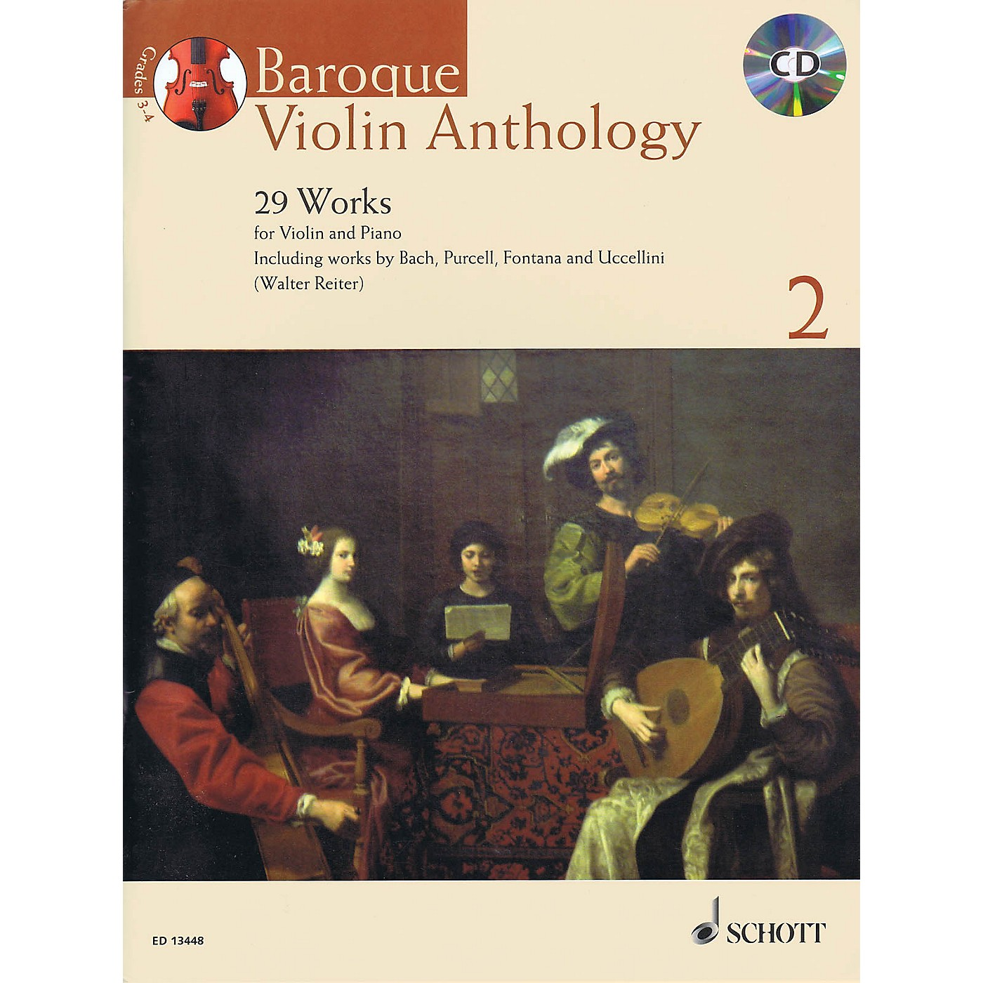 Schott Baroque Violin Anthology - Volume 2 (29 Works for Violin and Piano) String Series Softcover with CD thumbnail