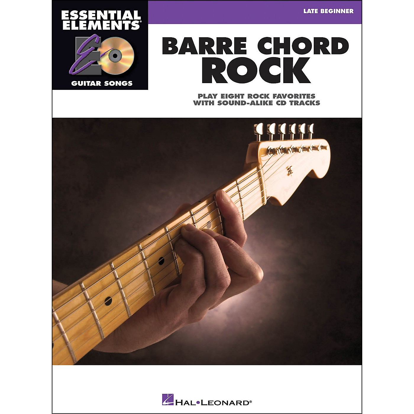Hal Leonard Barre Chord Rock Essential Elements Guitar Songs Book/CD Late Beginner thumbnail