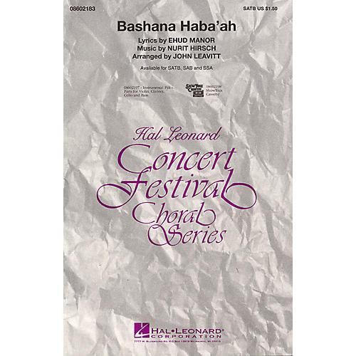 Hal Leonard Bashana Haba'ah SATB arranged by John Leavitt thumbnail