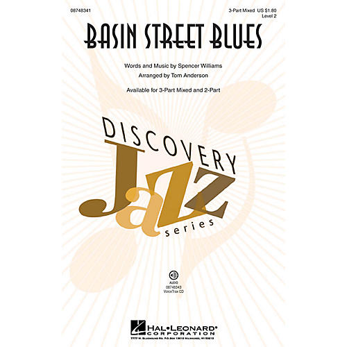 Hal Leonard Basin Street Blues (Discovery Level 2) 3-Part Mixed arranged by Tom Anderson thumbnail