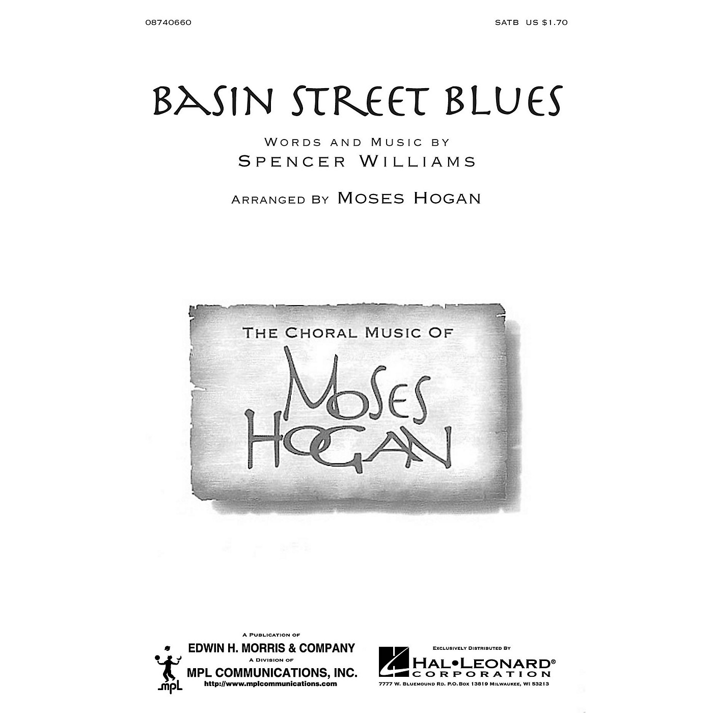 Hal Leonard Basin Street Blues SATB arranged by Moses Hogan thumbnail