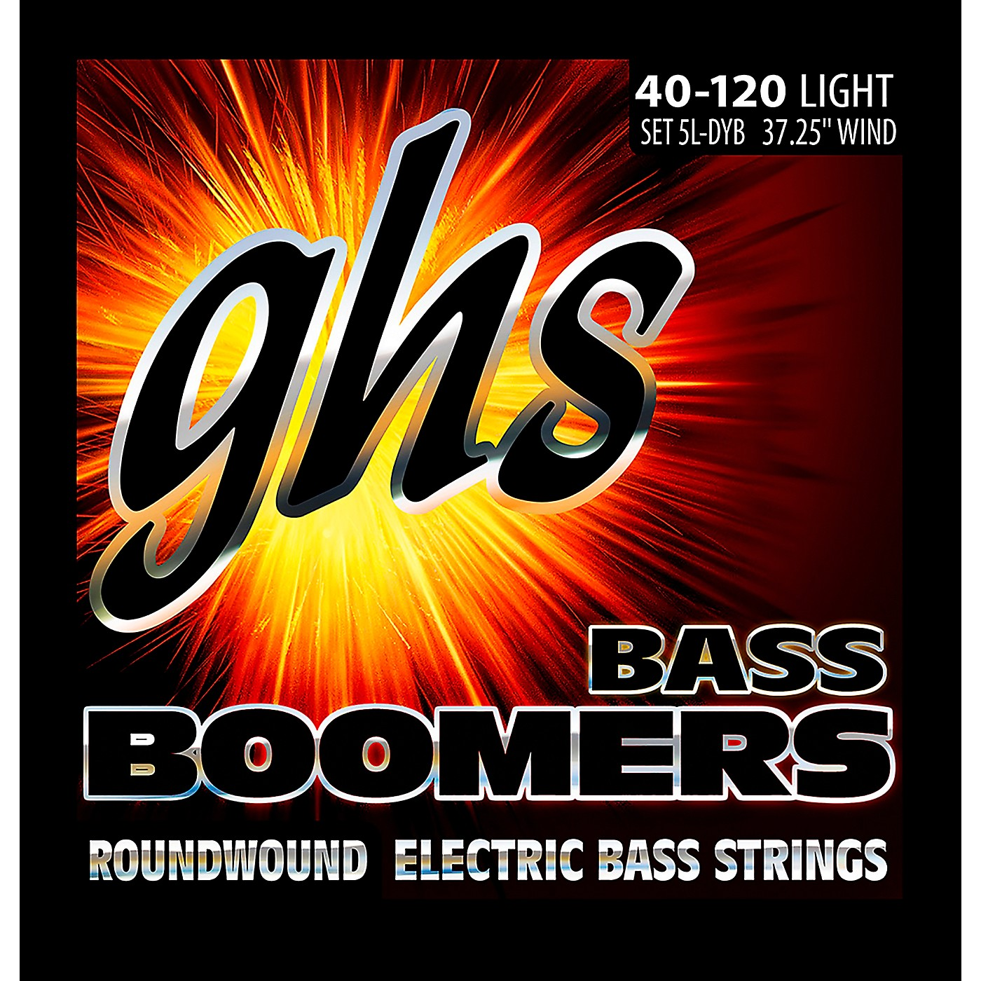 GHS Bass Boomers 5-String Roundwound Bass Strings (40-120) thumbnail
