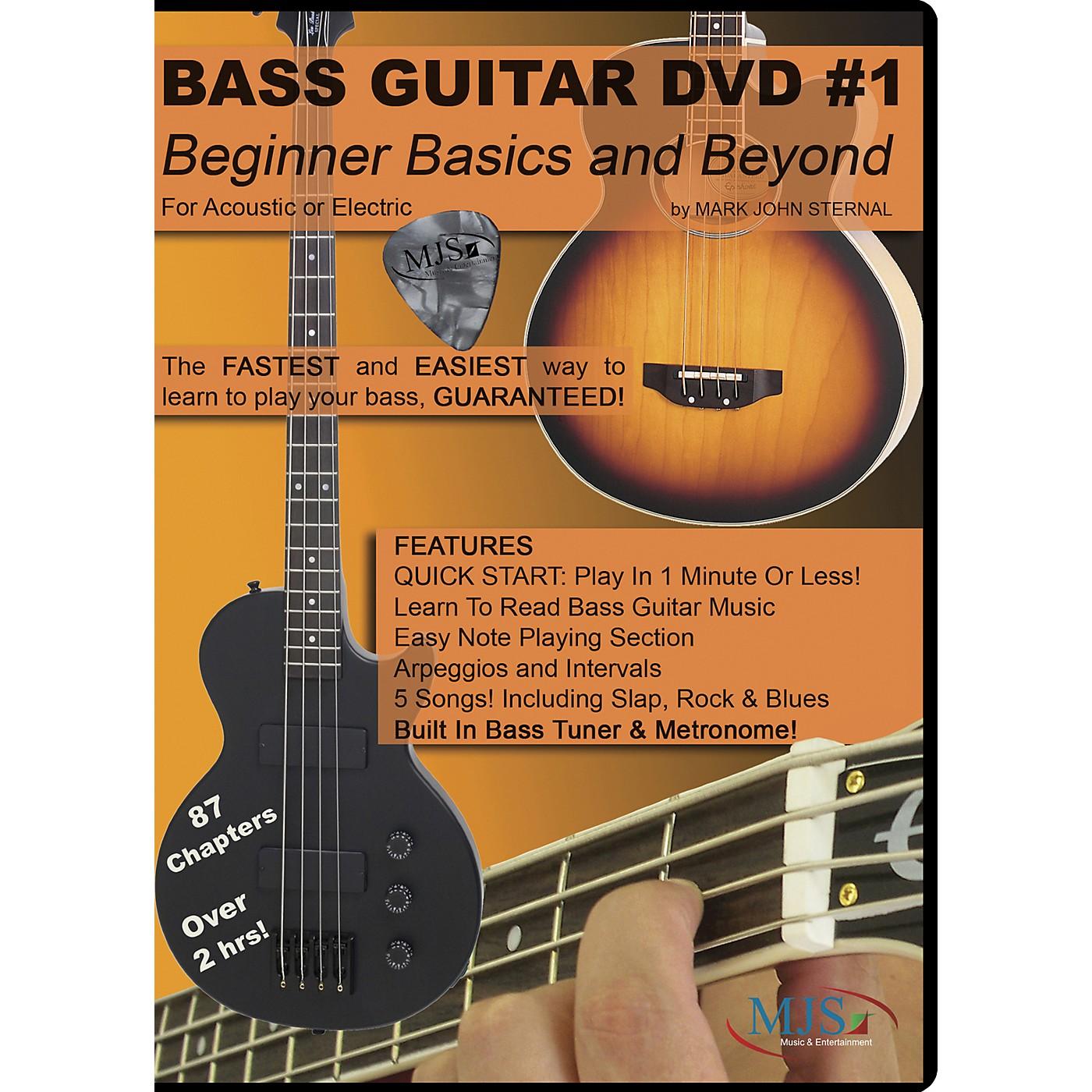MJS Music Publications Bass Guitar DVD #1 - Beginner Basics and Beyond thumbnail