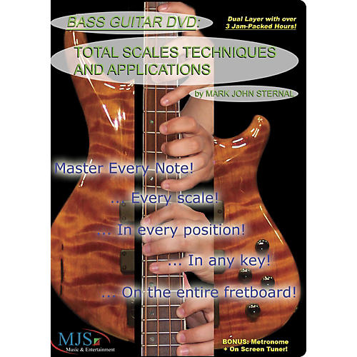 MJS Music Publications Bass Guitar DVD: Total Scales Techniques and Applications thumbnail