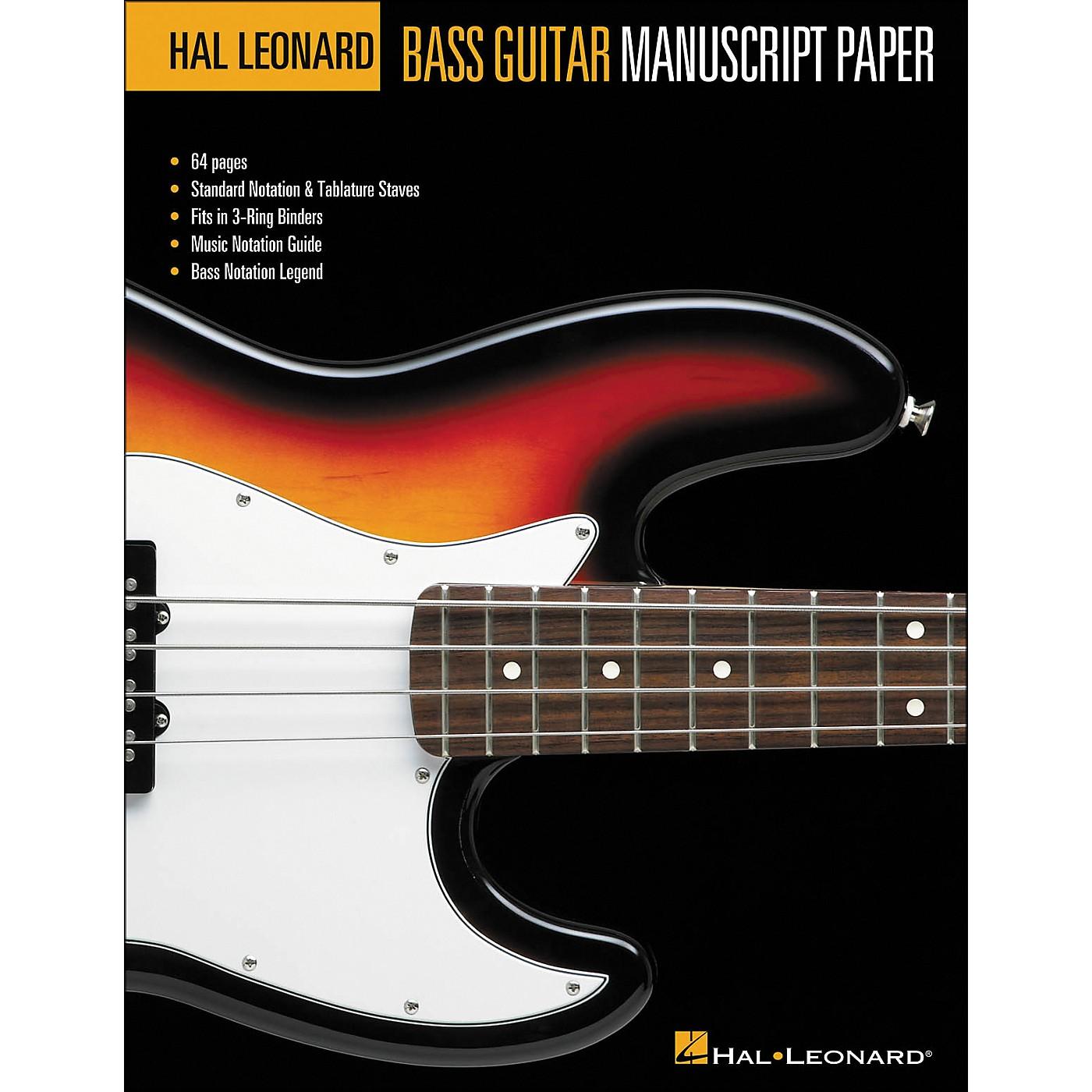 Hal Leonard Bass Guitar Manuscript Paper (8.5 X11 ) thumbnail