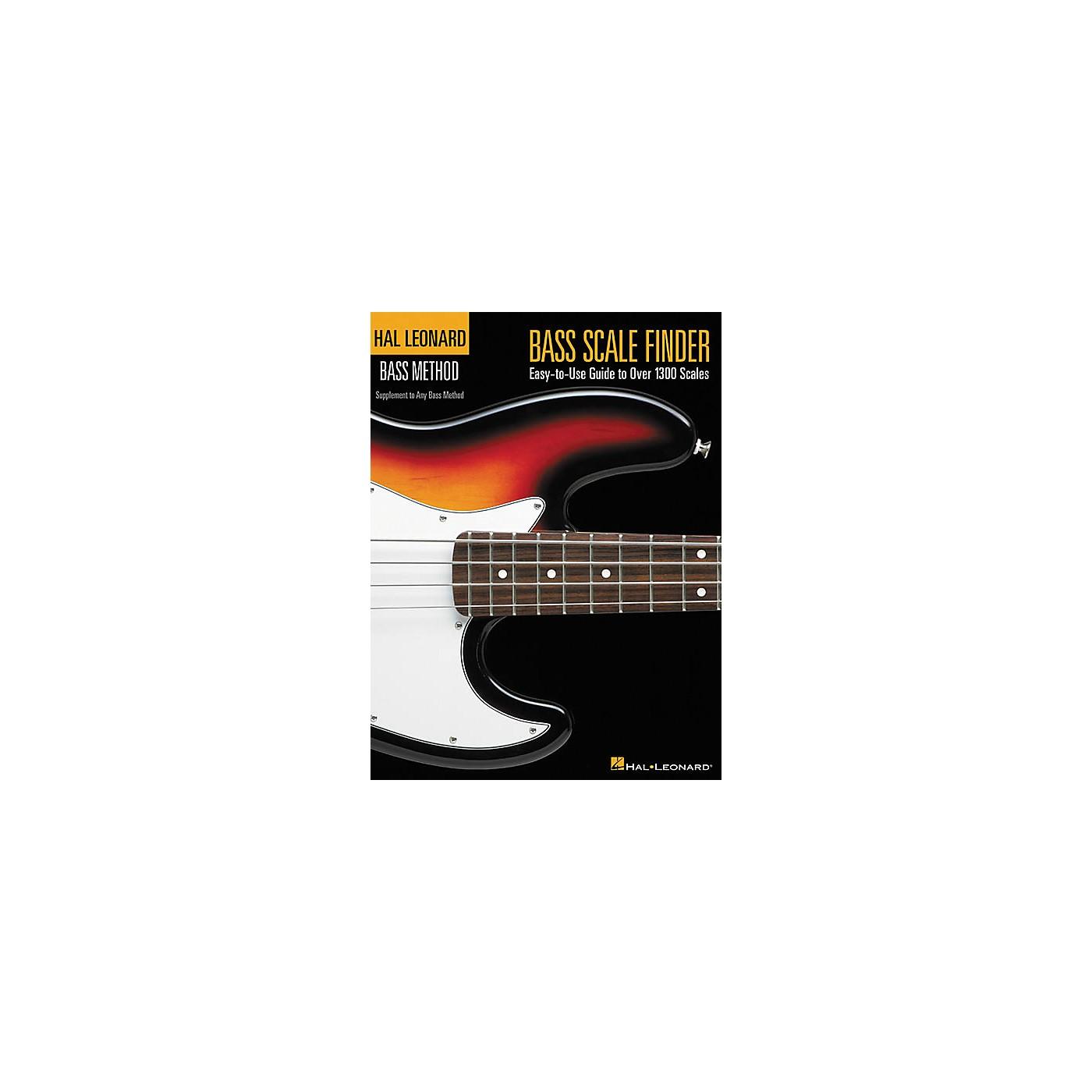 Hal Leonard Bass Scale Finder Book thumbnail