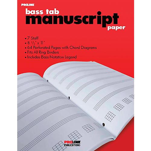Proline Bass Tab Blank Manuscript Paper-thumbnail