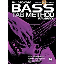 Hal Leonard Bass Tab Method Songbook 1 Book/CD